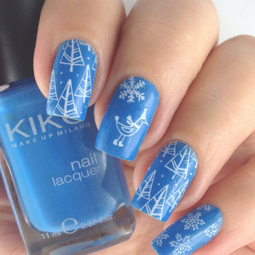 Winter Mani with Kiko and Konad nail art by Natasha