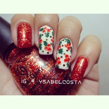 Mistletoe nail art by Katrina Ysabel Costa