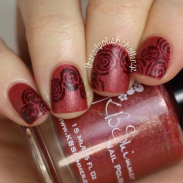 Kbshimmer marsala pantone nail art thumb370f