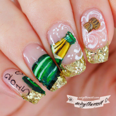 New Year's nail art nail art by Bella Seizethenail