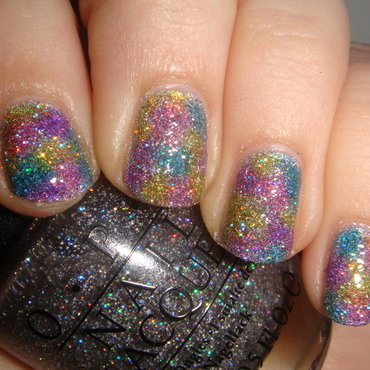 New Years Glitter Bomb nail art by Elin The Cupcake Cat