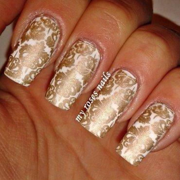 NYE manicure 2 nail art by Ewa