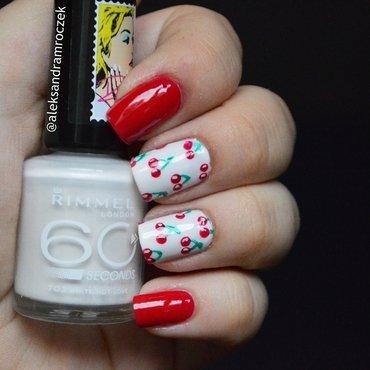 Cheri cheri lady nail art by Aleksandra Mroczek