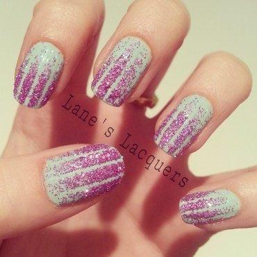 Ciate prima ballerina glitter gradient tape nail art thumb370f