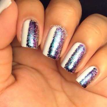 Flakies nail art by anas_manis