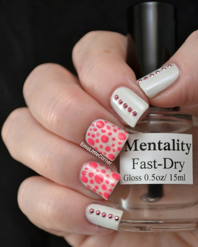 Simple Studs with Dotty Accents nail art by Emma B