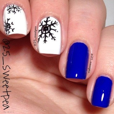 SnowFlake Shirt nail art by 25_sweetpea
