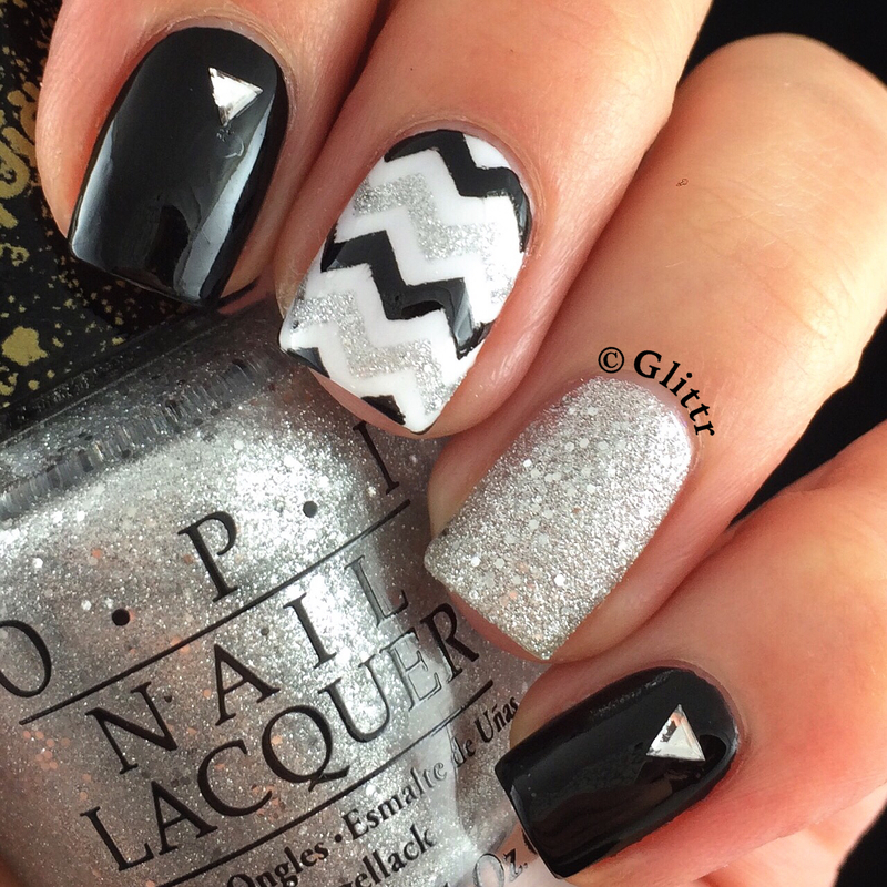New Years Eve Nails nail art by Glittr