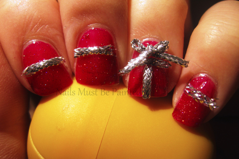 Presents nail art by Emily