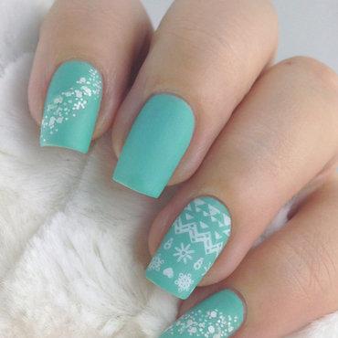 Winter nails nail art by Natasha
