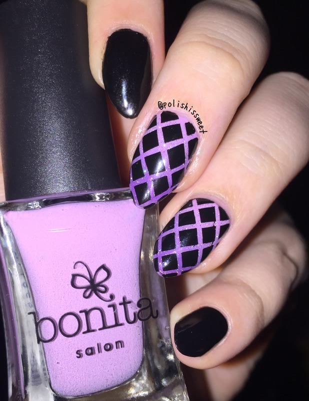 Ombré Fishnet Nails! nail art by PolishIsSweet