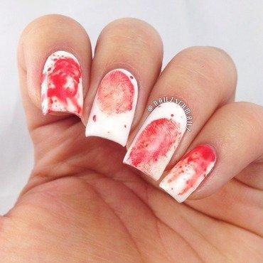 Dexter inspired nail art nail art by Eterna Santos