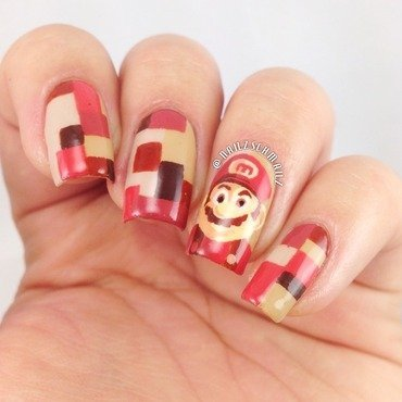 Retro Mario  nail art by Eterna Santos