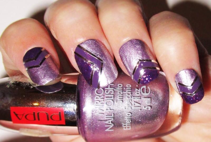 Chevron purple nails nail art by sissynailsmakeup