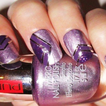 Chevron purple nails nail art by sissynailsmakeup