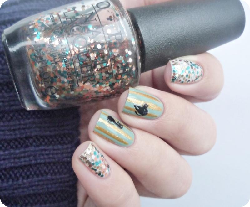 Kitty Nails nail art by Romana