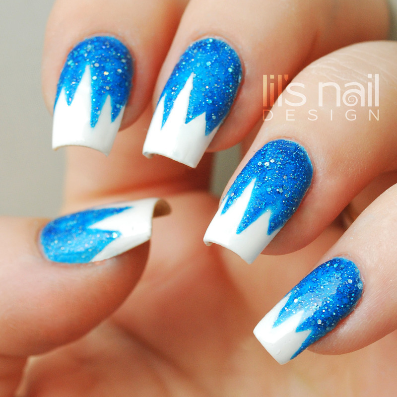icicles nail art by Lily-Jane Verezen