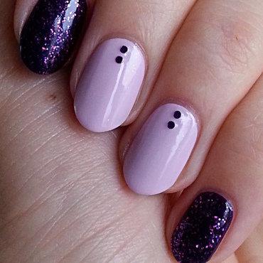 Purple Date nail art by Mgielka M