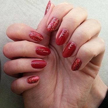 Red! nail art by Mgielka M