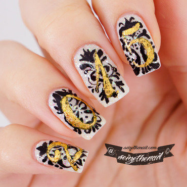 New years nail art nail art by Bella Seizethenail