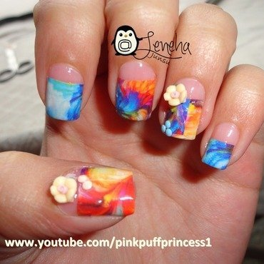 Abstract Art Inspired by Oil Painting nail art by Leneha Junsu
