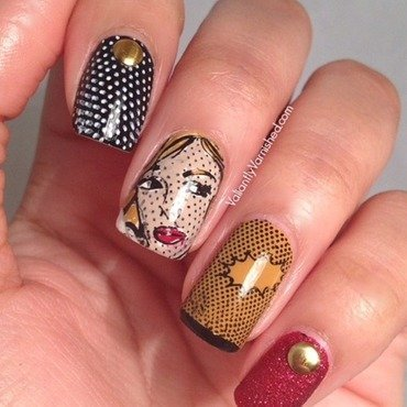 Retro Comic Book Nail Art nail art by Valiantly Varnished