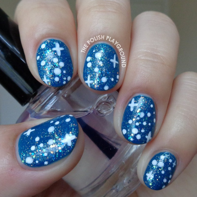 A Blue Starry Night Sky nail art by Lisa N - Nailpolis: Museum of ...