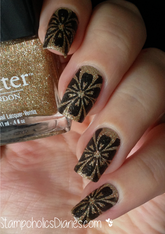 Butter London West End Wonderland and Stamping nail art by Natasha