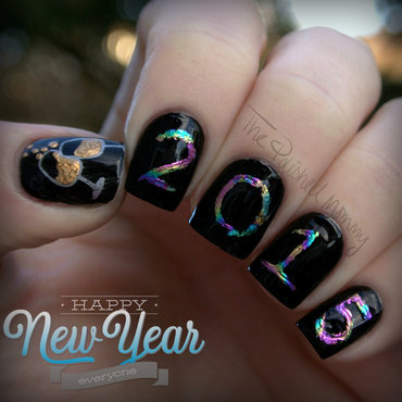 Happy New Year 2015 nail art by The Polished Mommy