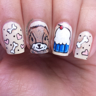 Dog birthday nail art thumb370f