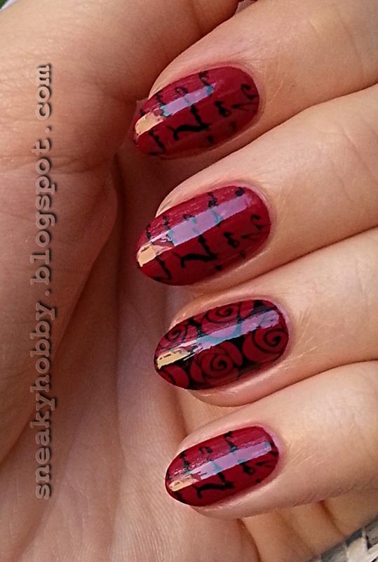 Romantic Red nail art by Mgielka M