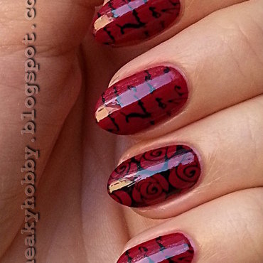 Romantic Red nail art by Mgielka M