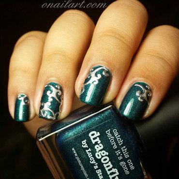 Medieval Dragon Nails nail art by OnailArt