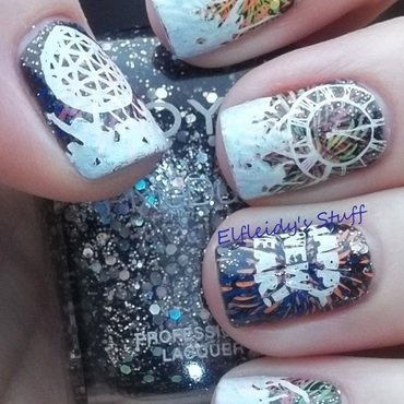 New Year's Eve! nail art by Jenette Maitland-Tomblin