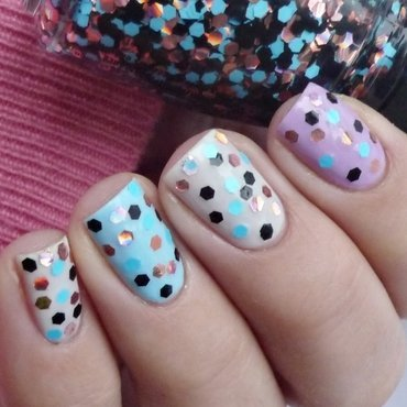 Essence Cotton Candy, NYC Raindrop, China Glaze Don't be a flake, and Barry M Berry Ice Cream Swatch by Romana