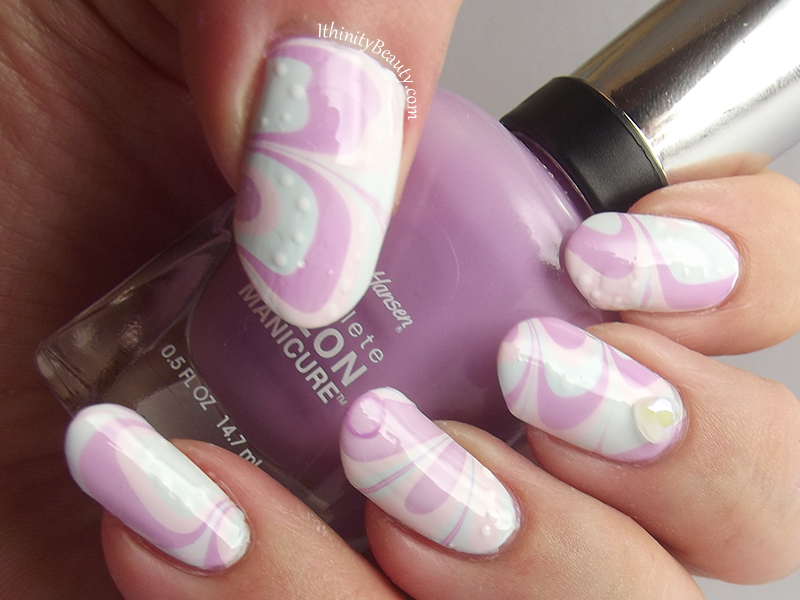 Sweetie Water Marble nail art by Ithfifi Williams
