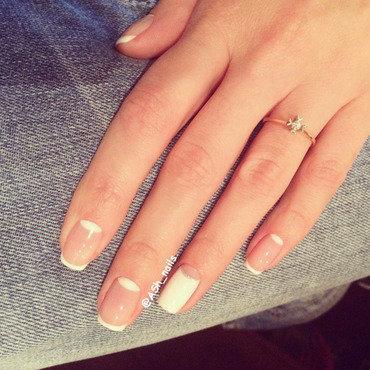 HALF-MOON FRENCH nail art by Anna Sh
