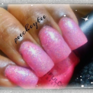 Sinful Colors Pinky Glitter Swatch by peecheytee