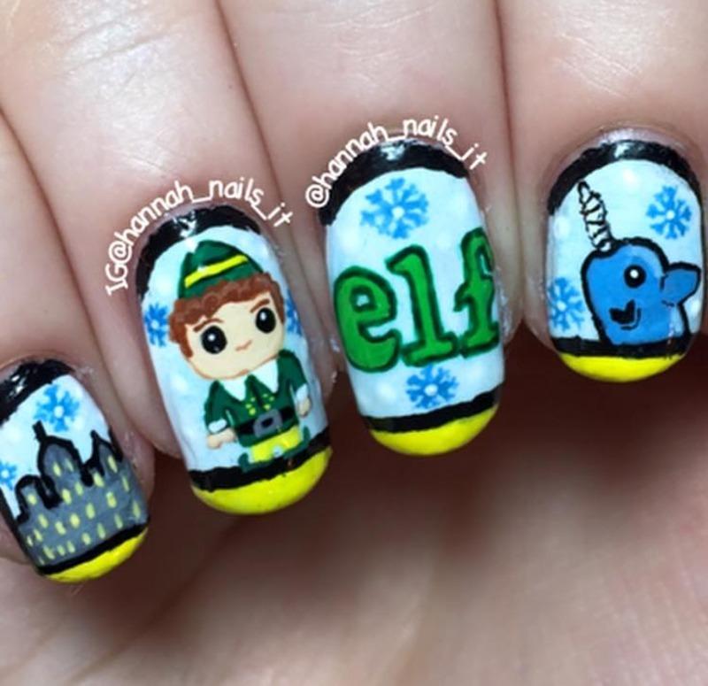 Elf nail art by Hannah
