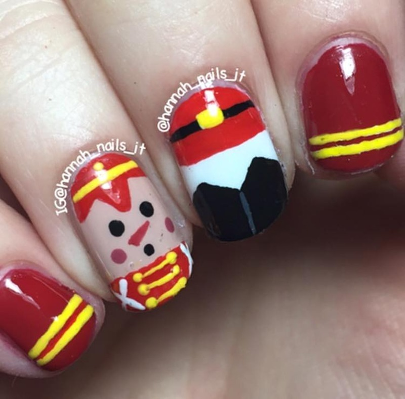 Toy Soldier nail art by Hannah