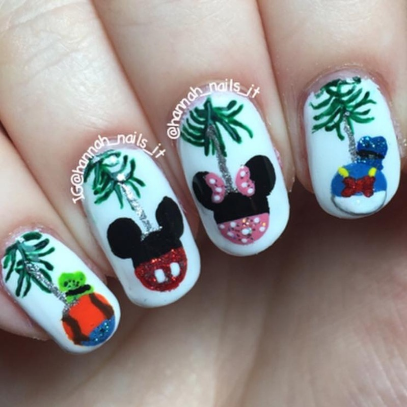 Disney Ornaments nail art by Hannah