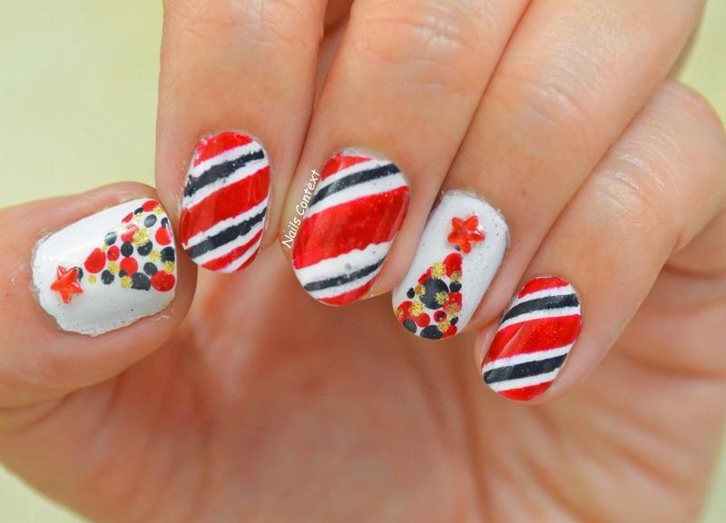 Christmas Tree nail art by NailsContext