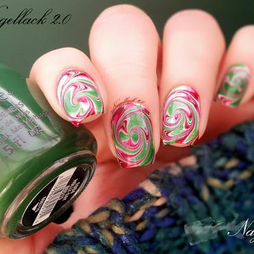 Swirled Marbling- again :p nail art by Arlett