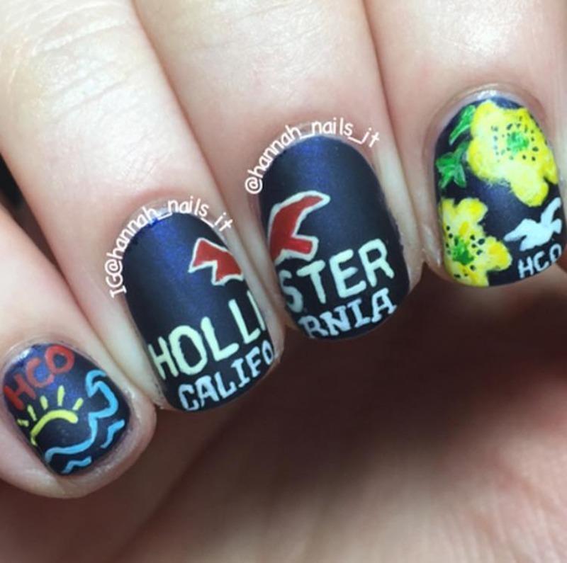 Hollister  nail art by Hannah