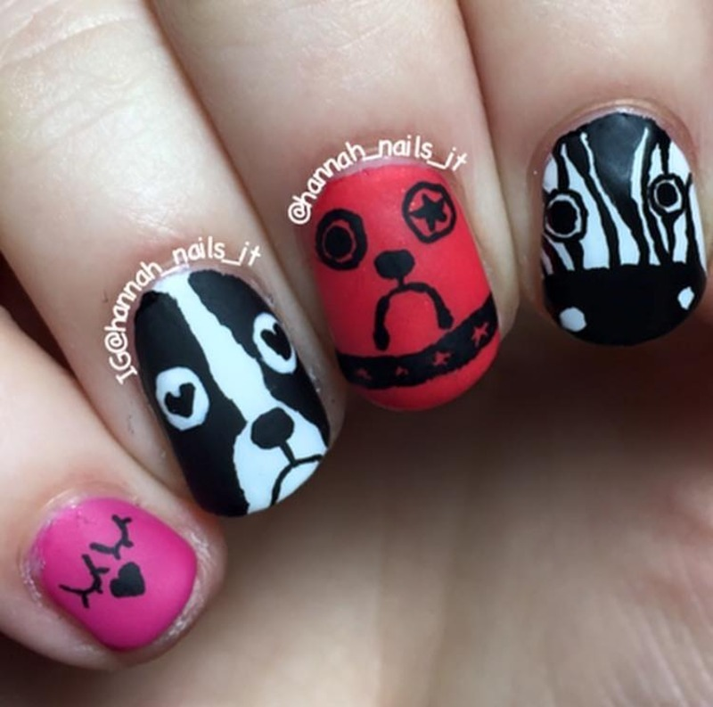 """Marc Jacobs """"Critters"""" nail art by Hannah"""