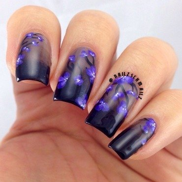 Glass Flowers nail art by Eterna Santos