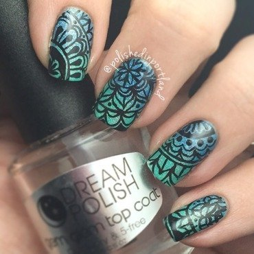 Morrocan gradient  nail art by PolishedinPortland