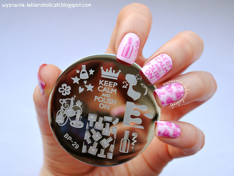 Keep Calm & Polish On Nails nail art by Born Pretty