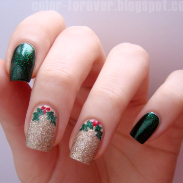 christmas nails nail art by ania