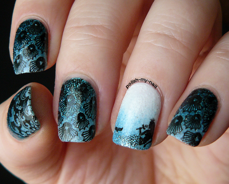 Mermaids nail art by Ewlyn